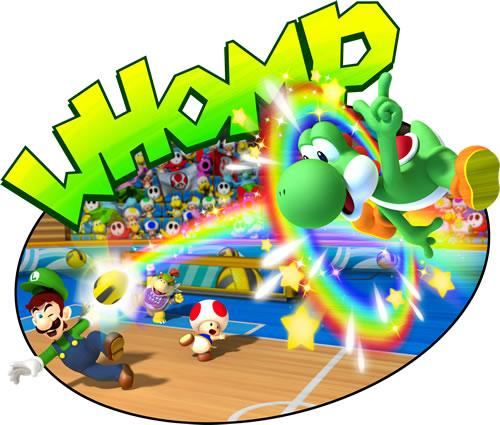 Yoshi Toad Luigi and Bowser Jr PLaying Dodgeball