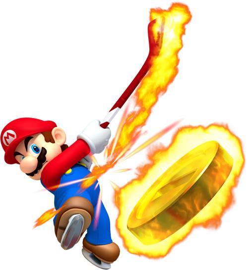Mario Playing Ice Hockey