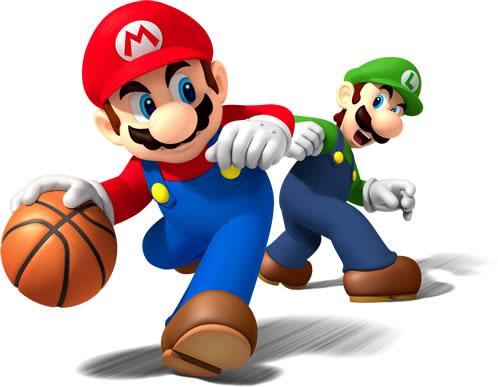 Mario And Luigi Playing Basketball