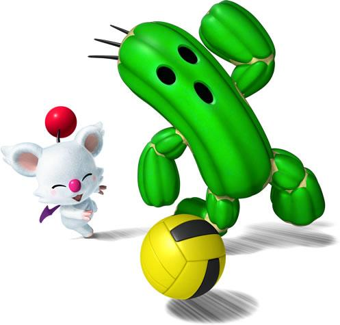 Moogle and Cactuar Playing Dodgeball