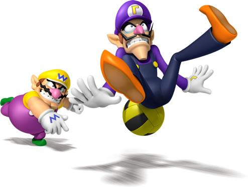 Wario and Waluigi Playing Dodgeball
