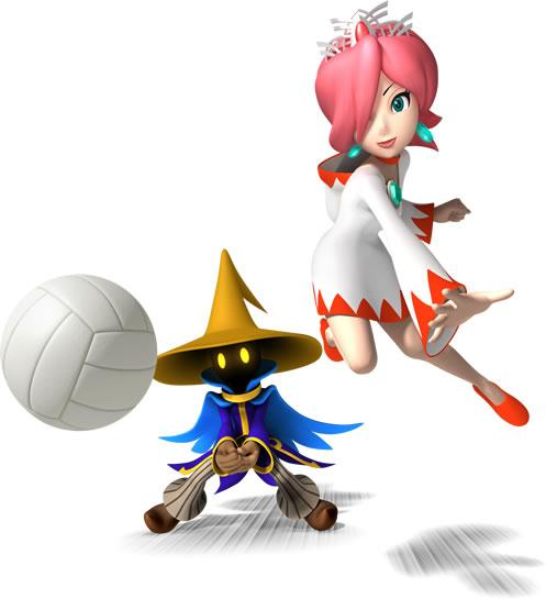 White Mage and Black Mage Playing Volleyball