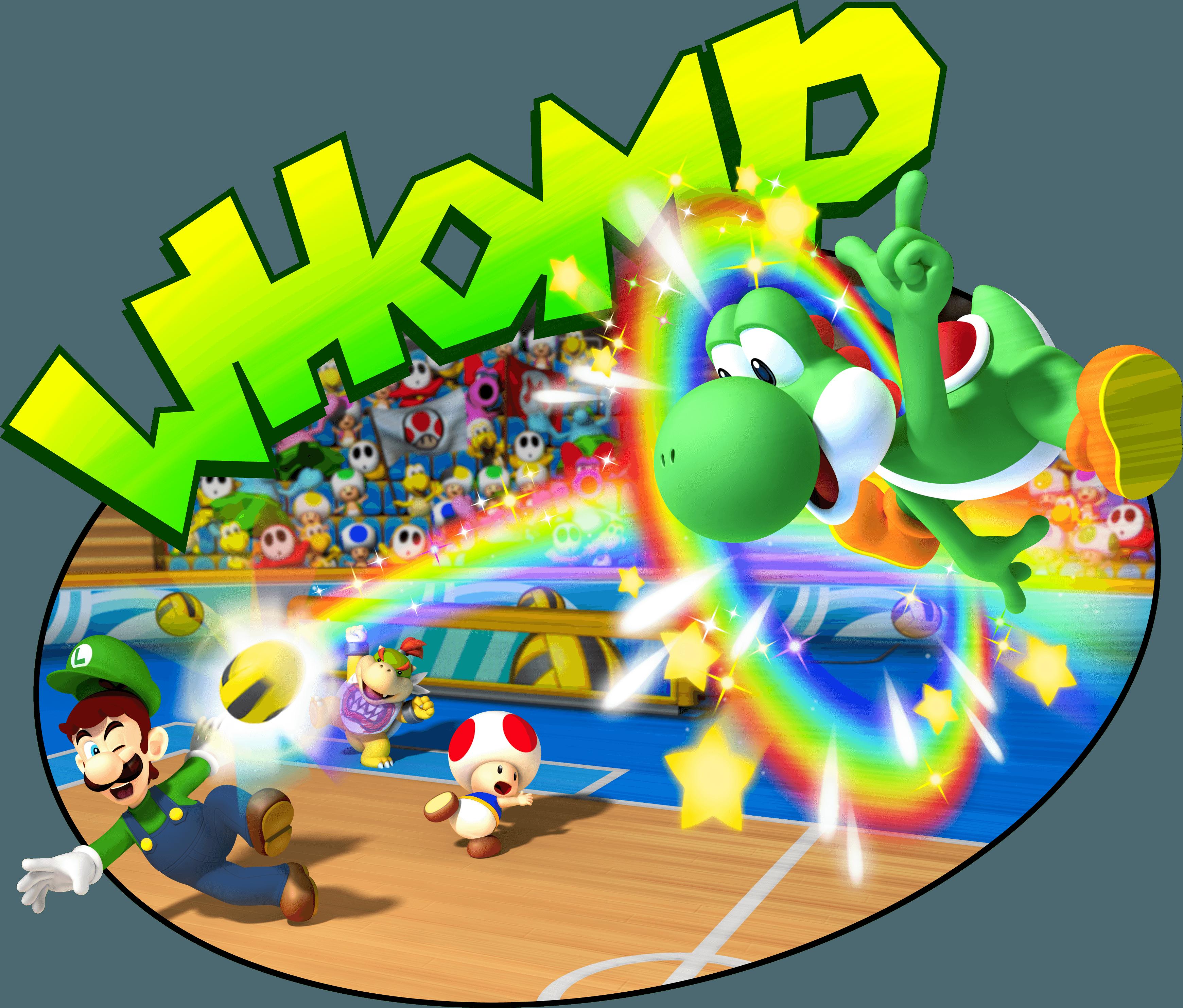 Yoshi Toad Luigi and Bowser Jr PLaying DodgeballYoshi And Bowser