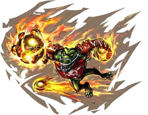 Kritter With Fire Balls