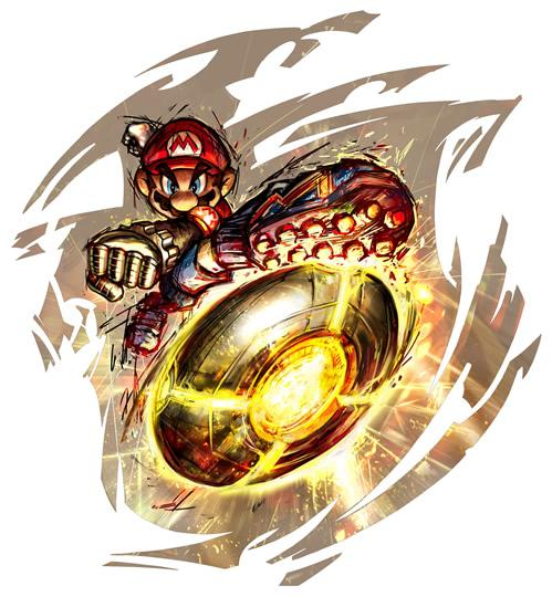 Mario Kicking Metal Bowl