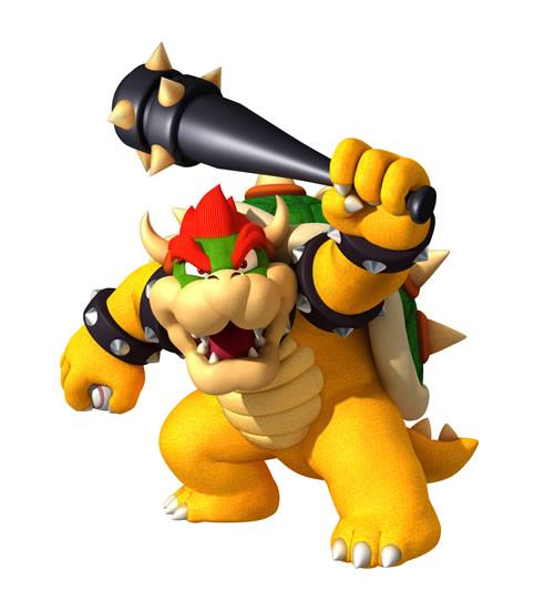 Bowser With Baseball Bat