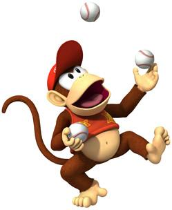 Diddy Kong  Juggling  With Baseball Balls