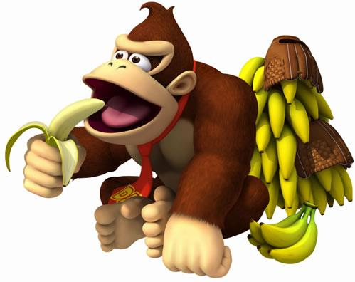 Donkey Kong Eating Banana
