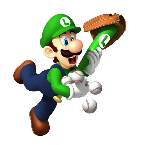 Luigi Carrying baseball Balls