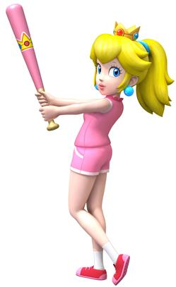 Peach With Baseball Bat