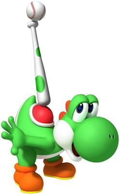 Yoshi Juggling With Bat And Ball