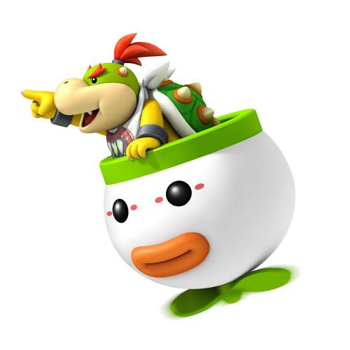 Bowser Jr Pointing At Something