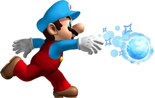 Ice Mario Throwing Ice Ball