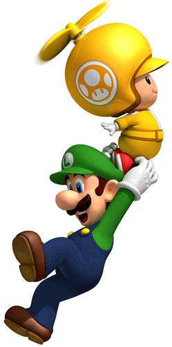 Yellow Toad Holding Luigi