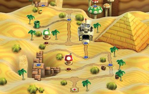 New Super Mario Bros Wii, World 2: Desert Land