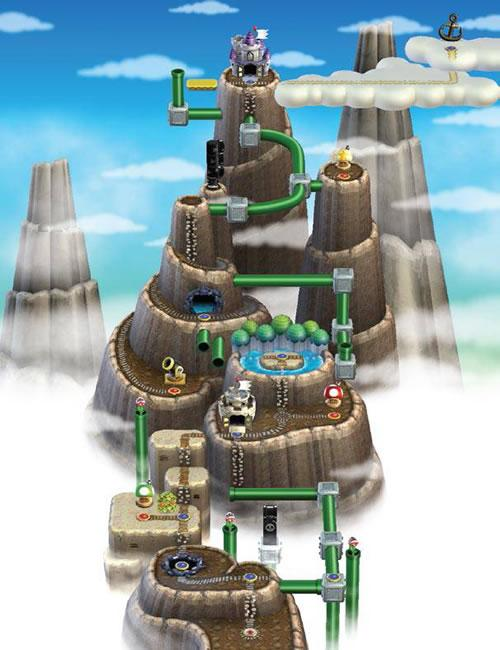New Super Mario Bros Wii, World 6: Sky Land