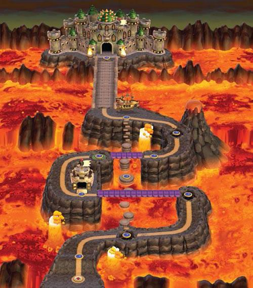 New Super Mario Bros Wii, World 8: Bowsers Lava Land