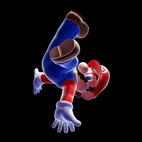 Mario floating