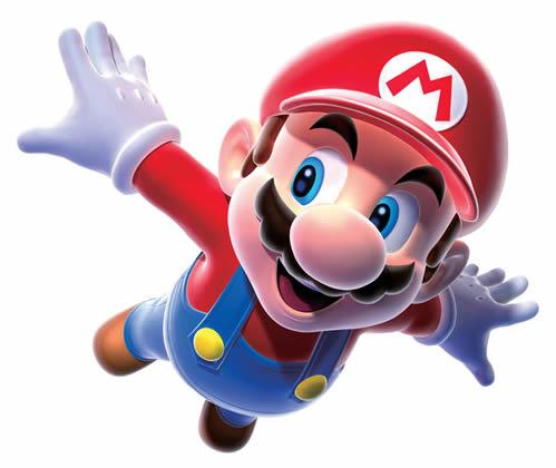 Mario soaring