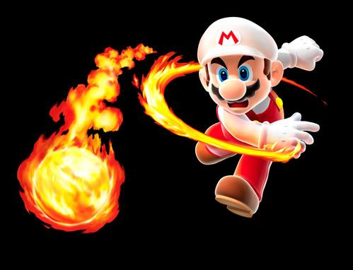 Mario Throwing Flame