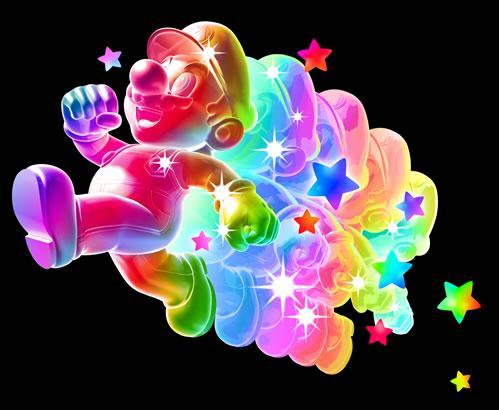Rainbow Mario Running