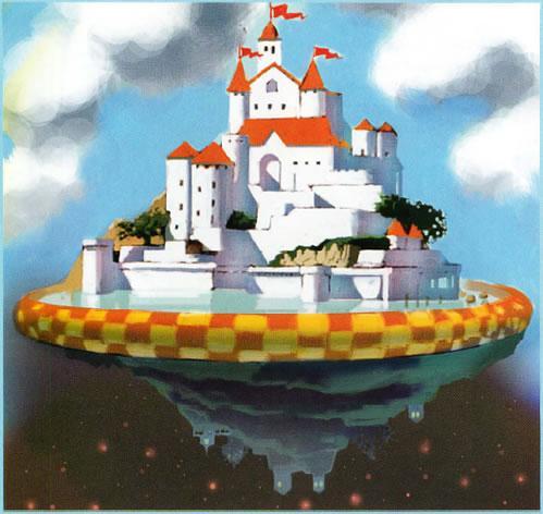 An unseen Castle like planet