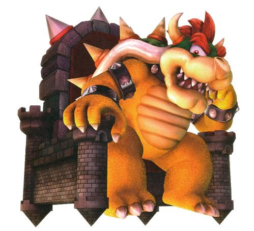 Bowser Sitting on Throne