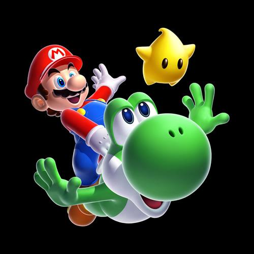 Mario Yoshi and a Luma