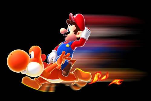 Mario on Dash Yoshi