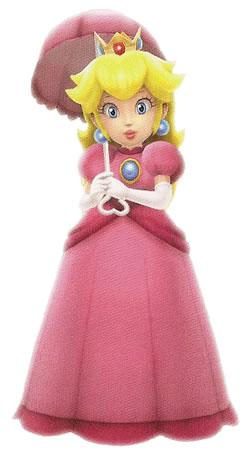 Princess Peach Holding Umbrella
