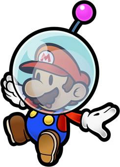 Mario wearing the Helmet