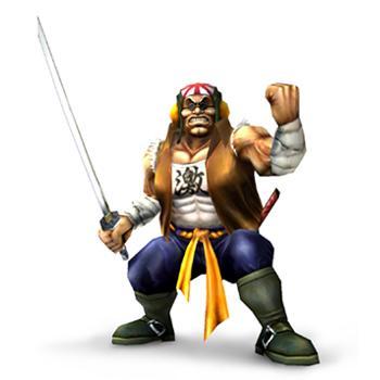 Samurai Goroh Holding Sword