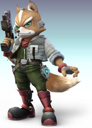 Fox McCloud Holding Gun