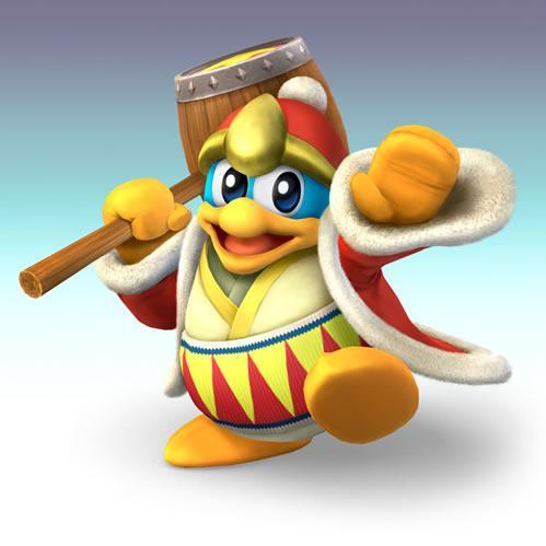 King Dedede Holding Hammer