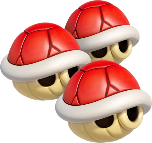 Triple Red Shells