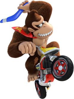 Donkey  Kong On Motorcycle