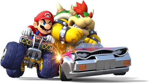 Mario And Bowser In Battle