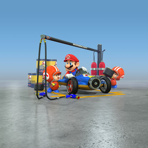 Mario and two Toad mechanics