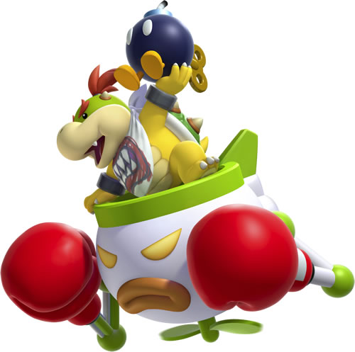 Bowser Jr in his Koopa Clown Car
