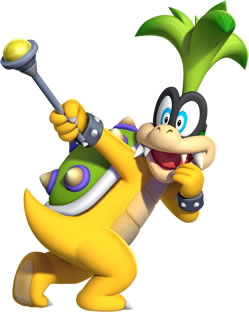 Iggy Koopa with his Magic Scepter