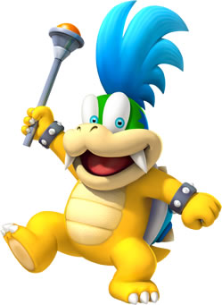 Larry Koopa with his Magic Scepter