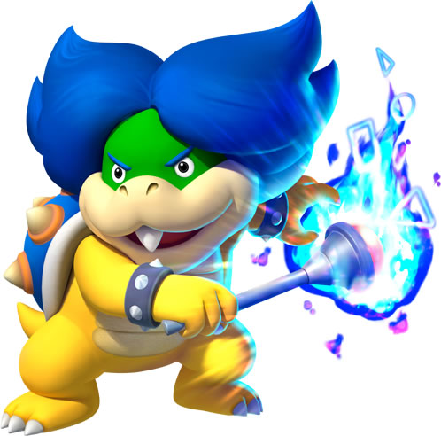 Ludwig von Koopa with his Magic Scepter