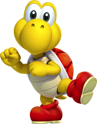 A Red Koopa Troopa
