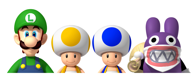 New Super Luigi Wii U Artwork