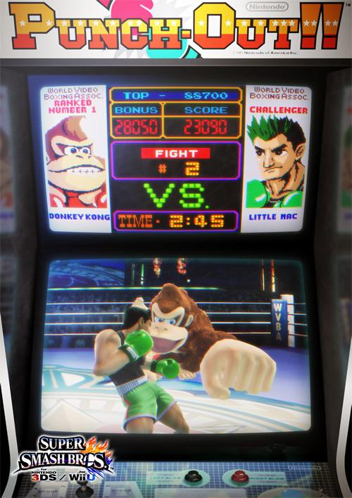 Wii U Arcade Machine : Super smash bros wii u ds characters logos and