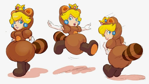 Tanooki Princess Peach