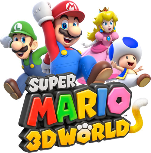 The four main playable characters with the logo