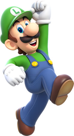 Happy Luigi Jumping