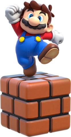 Small Mario On Brick