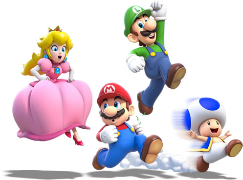 The four main playable characters